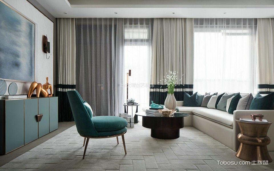 世纪公园127平米现代风格三居室装修效果图