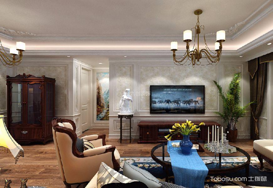 润德天悦城120平米美式风格二居室装修效果图