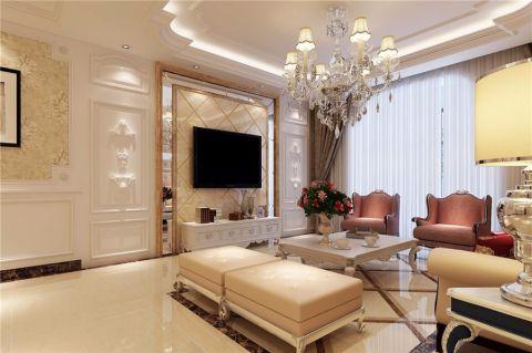 方圆经纬130平三居室欧式风格装修案例效果图