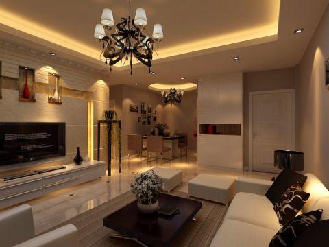 安居新村132平方三居室现代简约风格效果图