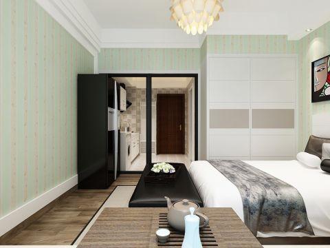 现代简约风格58平米公寓室内装修效果图