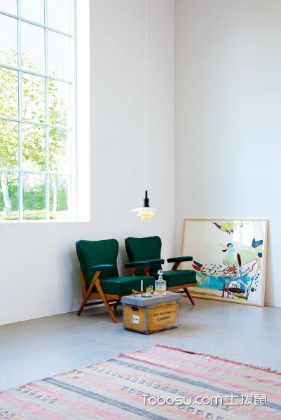 客厅白色灯具北欧风格装潢图片