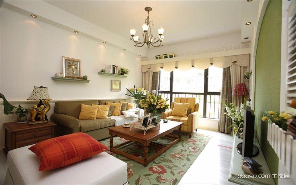 中铁国际城广园112平美式三居室装修效果图