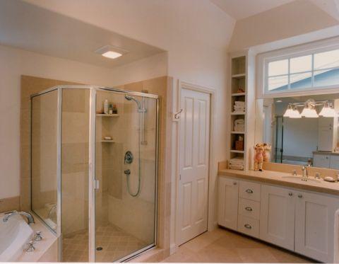 浴室简欧风格效果图大全2017图片_土拨鼠优雅纯净浴室简欧风格装修设计效果图欣赏