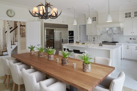 厨房北欧风格效果图大全2017图片_土拨鼠唯美纯净厨房北欧风格装修设计效果图欣赏