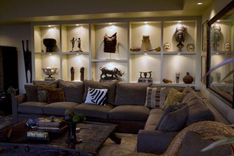 客厅现代风格效果图大全2017图片_土拨鼠简洁沉稳客厅现代风格装修设计效果图欣赏