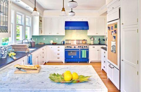 厨房简欧风格效果图大全2017图片_土拨鼠温馨创意厨房简欧风格装修设计效果图欣赏