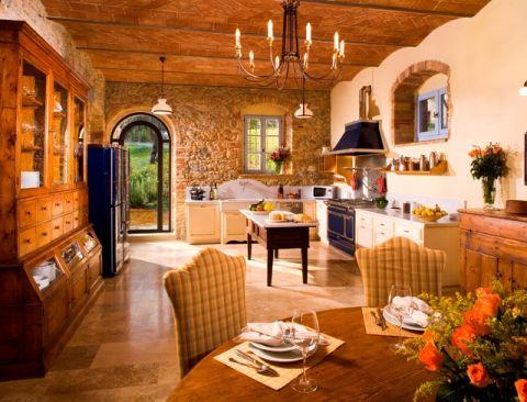 厨房地中海风格效果图大全2017图片_土拨鼠现代沉稳厨房地中海风格装修设计效果图欣赏
