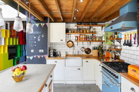 厨房混搭风格效果图大全2017图片_土拨鼠温暖风雅厨房混搭风格装修设计效果图欣赏