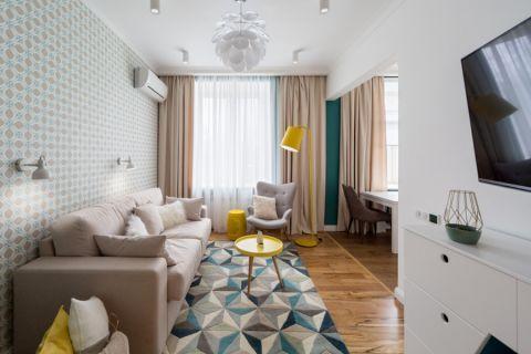 客厅北欧风格效果图大全2017图片_土拨鼠大气富丽客厅北欧风格装修设计效果图欣赏