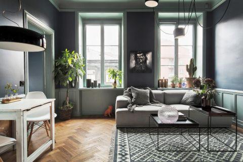 客厅北欧风格效果图大全2017图片_土拨鼠优雅质感客厅北欧风格装修设计效果图欣赏