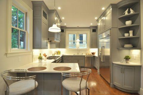 厨房简欧风格效果图大全2017图片_土拨鼠简洁个性厨房简欧风格装修设计效果图欣赏