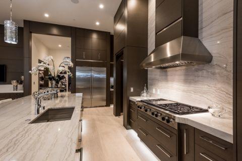 厨房现代风格效果图大全2017图片_土拨鼠豪华雅致厨房现代风格装修设计效果图欣赏