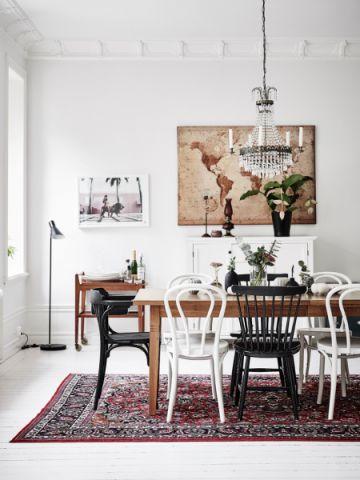 餐厅北欧风格效果图大全2017图片_土拨鼠简洁创意餐厅北欧风格装修设计效果图欣赏