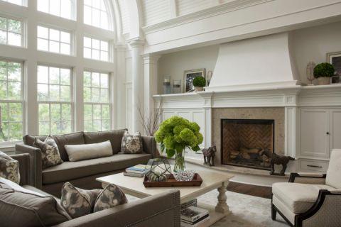 客厅美式风格效果图大全2017图片_土拨鼠个性优雅客厅美式风格装修设计效果图欣赏