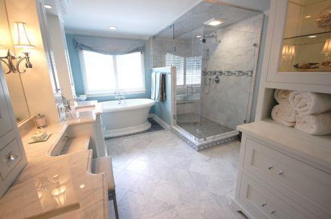 浴室地中海风格效果图大全2017图片_土拨鼠简洁奢华浴室地中海风格装修设计效果图欣赏