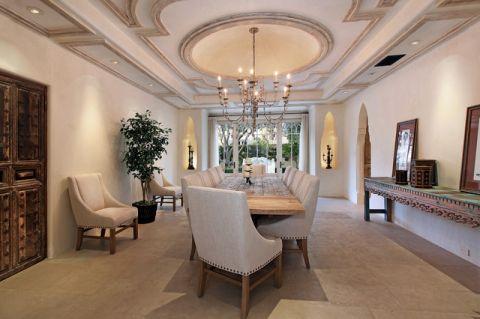 餐厅地中海风格效果图大全2017图片_土拨鼠完美雅致餐厅地中海风格装修设计效果图欣赏