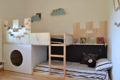 儿童房北欧风格效果图大全2017图片_土拨鼠清新个性儿童房北欧风格装修设计效果图欣赏