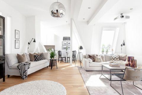 客厅北欧风格效果图大全2017图片_土拨鼠美好格调客厅北欧风格装修设计效果图欣赏