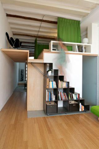 楼梯北欧风格效果图大全2017图片_土拨鼠清爽沉稳楼梯北欧风格装修设计效果图欣赏