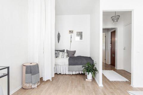 卧室北欧风格效果图大全2017图片_土拨鼠唯美纯净卧室北欧风格装修设计效果图欣赏