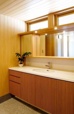 浴室日式风格效果图大全2017图片_土拨鼠文艺沉稳浴室日式风格装修设计效果图欣赏