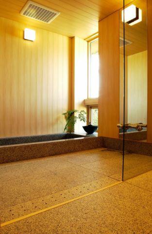 浴室日式风格效果图大全2017图片_土拨鼠奢华纯净浴室日式风格装修设计效果图欣赏