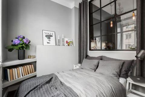 卧室北欧风格效果图大全2017图片_土拨鼠完美创意卧室北欧风格装修设计效果图欣赏