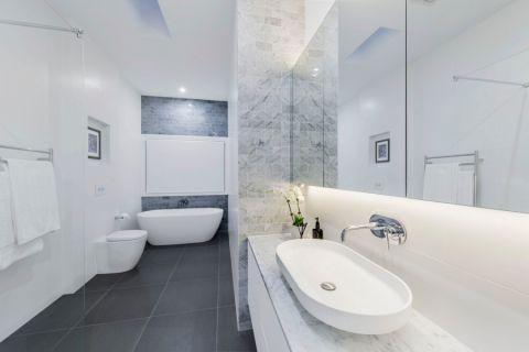 卫生间现代风格效果图大全2017图片_土拨鼠潮流雅致卫生间现代风格装修设计效果图欣赏