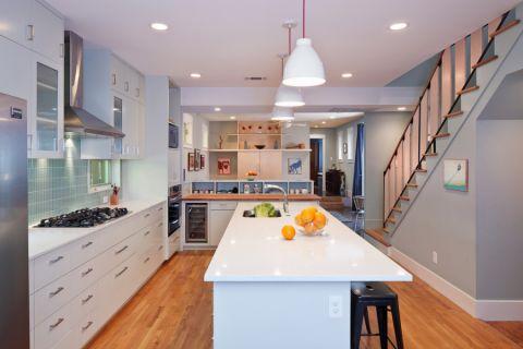 厨房现代风格效果图大全2017图片_土拨鼠古朴格调厨房现代风格装修设计效果图欣赏