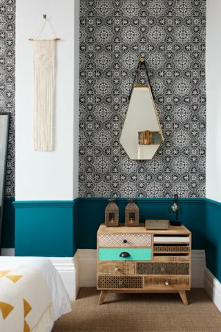 卧室混搭风格效果图大全2017图片_土拨鼠浪漫质感卧室混搭风格装修设计效果图欣赏