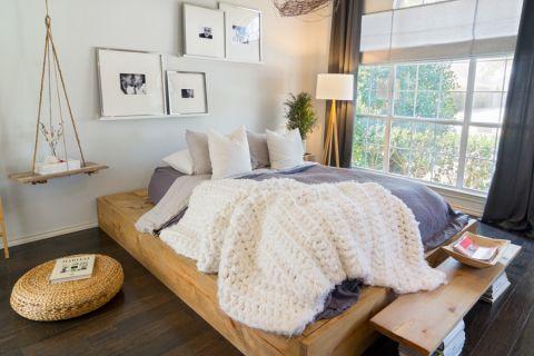卧室北欧风格效果图大全2017图片_土拨鼠精致富丽卧室北欧风格装修设计效果图欣赏