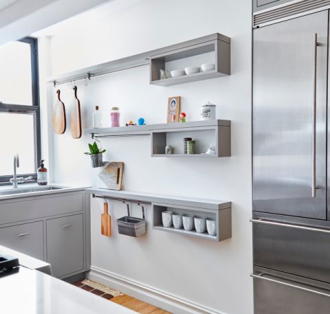 厨房现代风格效果图大全2017图片_土拨鼠时尚清新厨房现代风格装修设计效果图欣赏