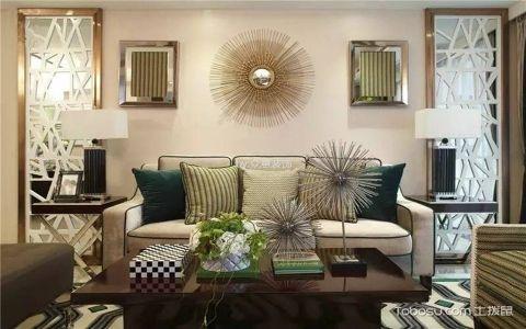 欧林匹克花园110平现代简约三居室装修效果图