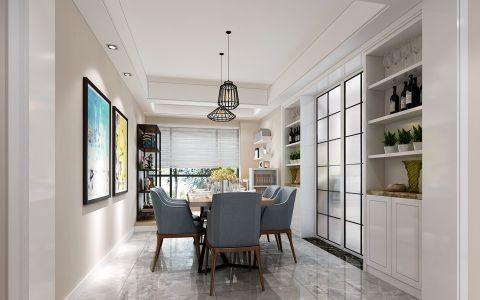 华地紫园131平方三室两厅户型简约风格设计效果图
