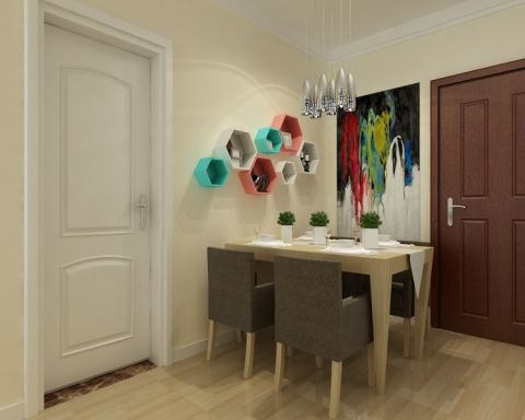 海亮艺术华府83平二居室现代简约装修效果图