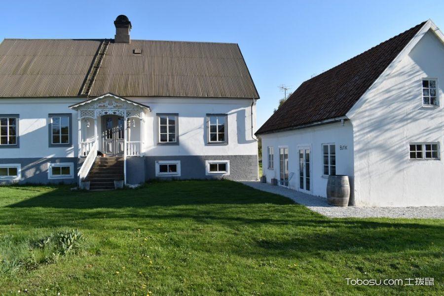 外景白色外墙北欧风格装饰效果图