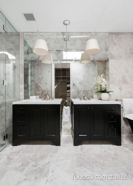 卫生间灰色地砖北欧风格装饰图片