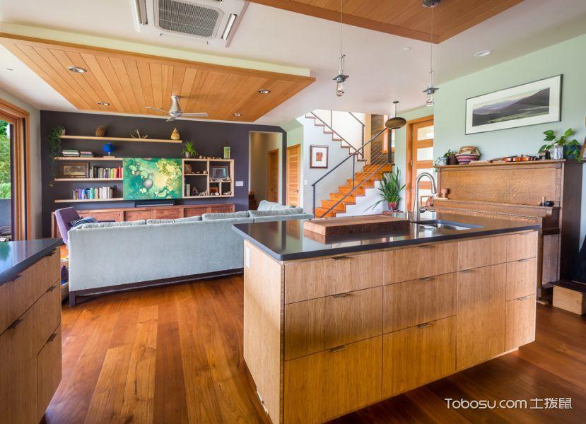 2019现代客厅装修设计 2019现代厨房岛台效果图