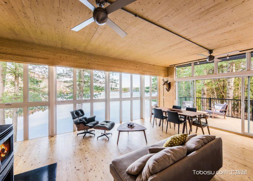 客厅米色茶几北欧风格装饰设计图片