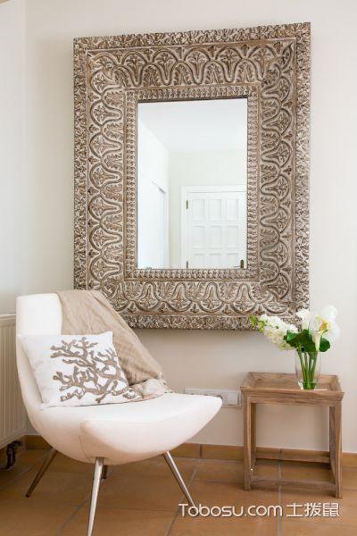 客厅白色茶几北欧风格装潢效果图