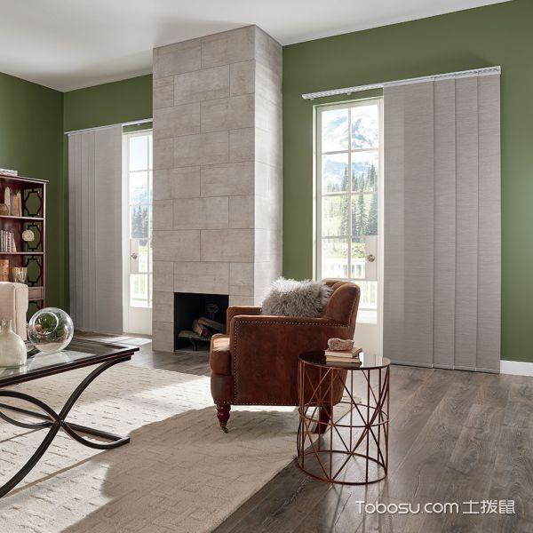 客厅白色地砖北欧风格装饰设计图片