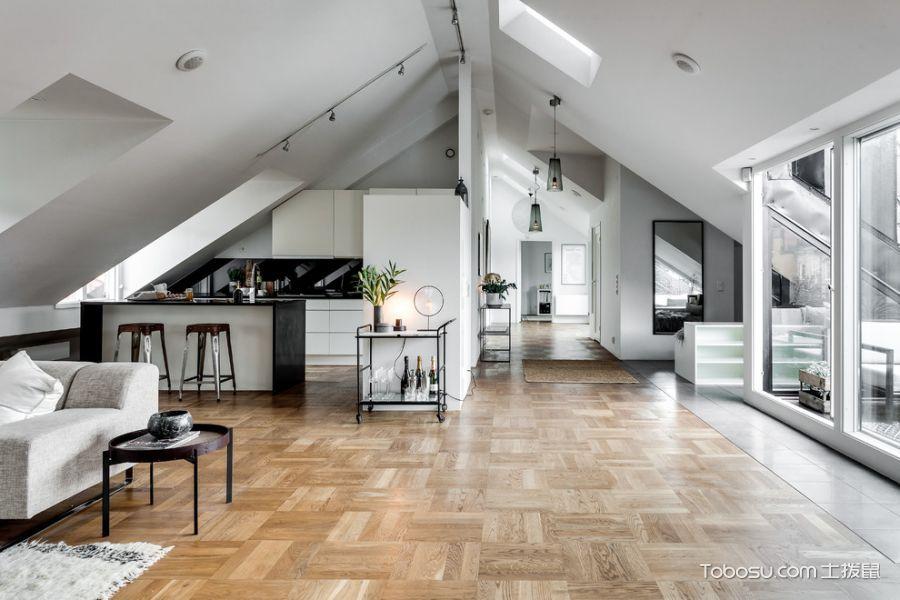 客厅地砖北欧风格装饰设计图片