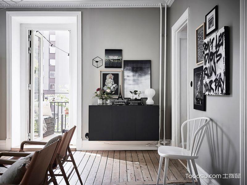 客厅灰色地砖北欧风格装修效果图