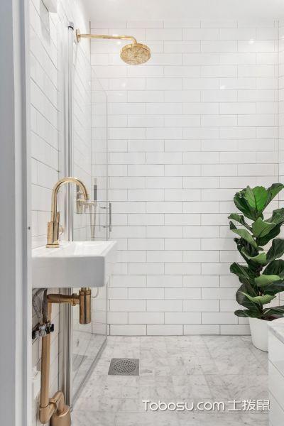 浴室白色洗漱台北欧风格装修图片