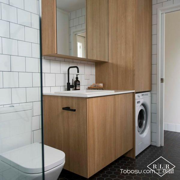 浴室黄色洗漱台北欧风格装潢图片