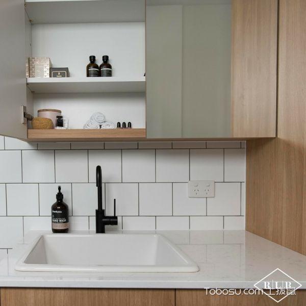 浴室白色洗漱台北欧风格装修设计图片