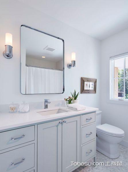 浴室白色洗漱台北欧风格效果图