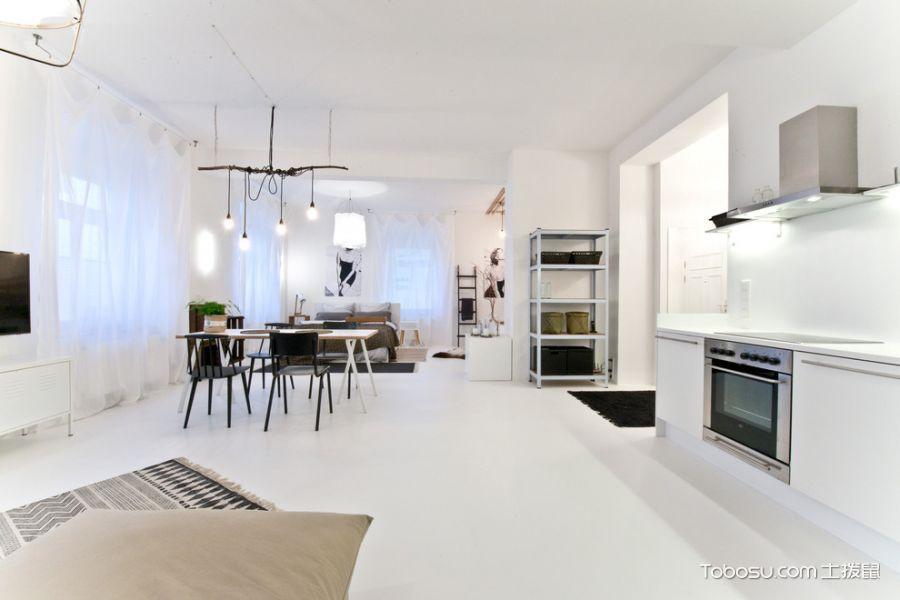 客厅白色灯具北欧风格装饰效果图