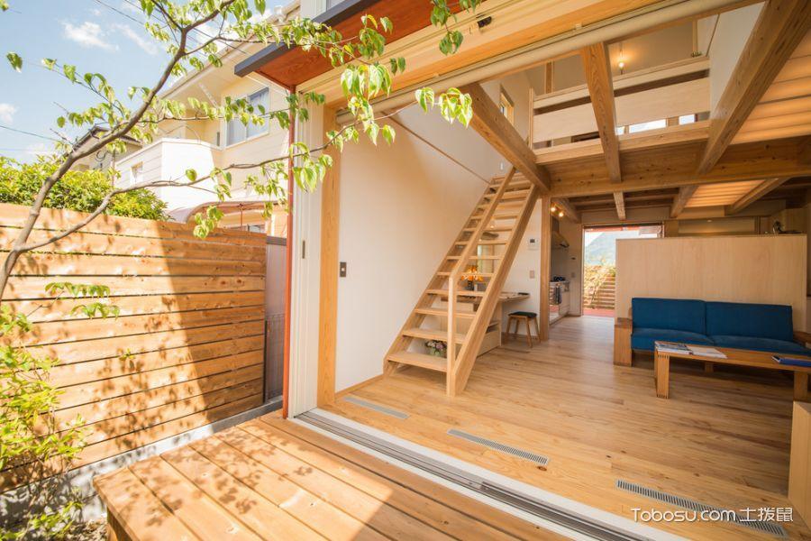 阳台楼梯日式装修案例效果图图片